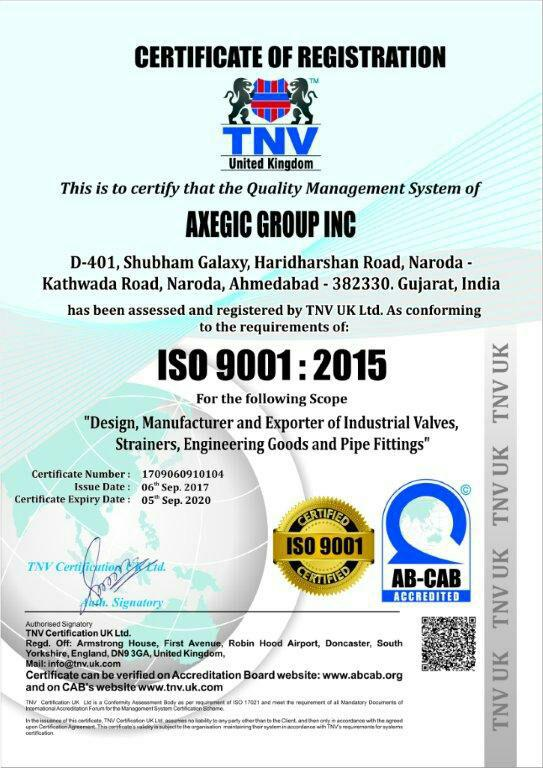 Axegic Group Inc- world's leading manufacturers of cast and forged steel gate, globe India